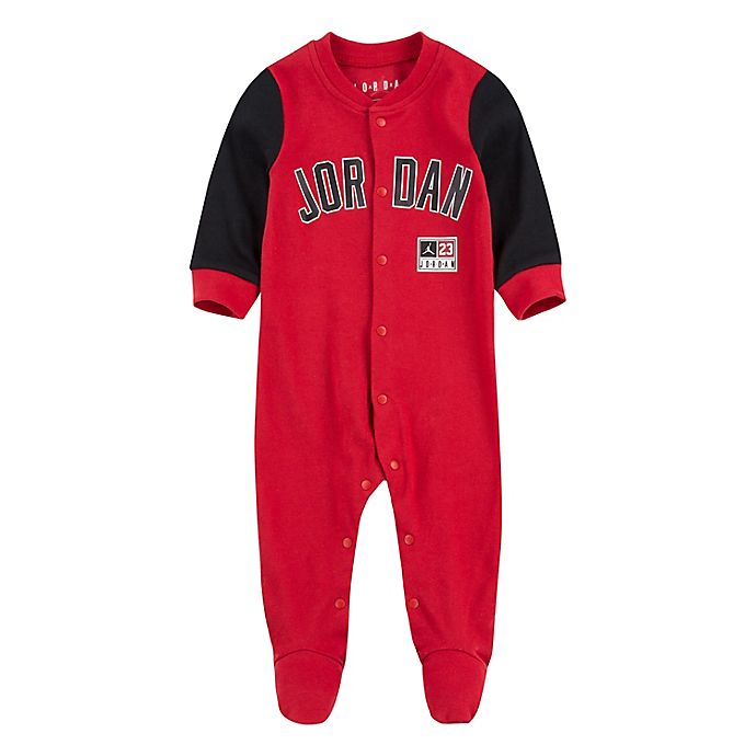 Alternate image 1 for Jordan Diamond Footed Coverall in Red