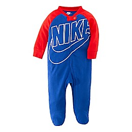 Nike® Futura Footed Coverall in Royal Red