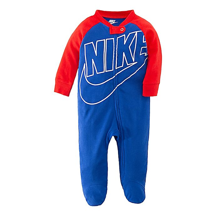 Alternate image 1 for Nike® Futura Footed Coverall in Royal Red
