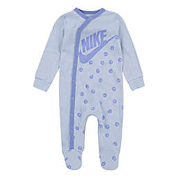 Nike® Smiley Footed Coverall in Purple