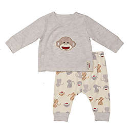 Baby Starters® 2-Piece Monkey Kimono Jacket and Pant Set