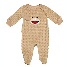 Baby Starters® Sock Monkey Footed Coverall in Brown