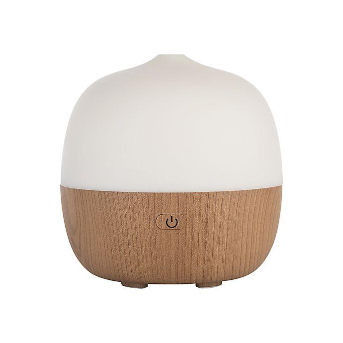 Alternate image 1 for SpaRoom® Hugo Smart App-Enabled Essential Oil Diffuser in White/Brown