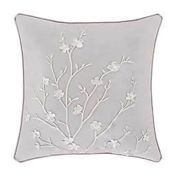 Piper & Wright Cherry Blossom Square Throw Pillow in Grey