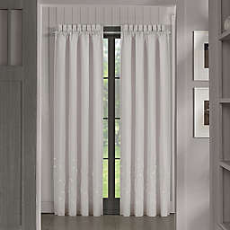 Piper & Wright Cherry Blossom 2-Pack 84-Inch Rod Pocket Window Curtain Panels in Grey