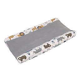 NoJo® Zoo Animals Changing Pad Cover in White/Grey