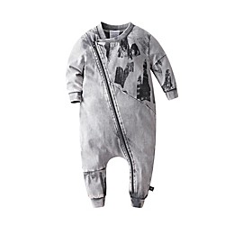 Kidding Around Biker Coverall in Charcoal