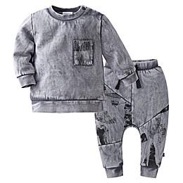 Kidding Around 2-Piece Sweatshirt and Pant Set in Grey