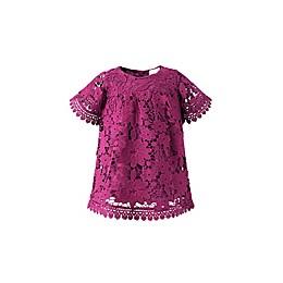 Kidding Around Lace Dress in Burgundy