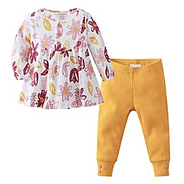 Kidding Around 2-Piece Floral Crinkle Top and Legging Set