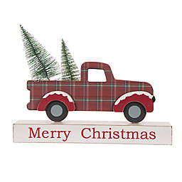 Christmas Truck Table Decor in Red