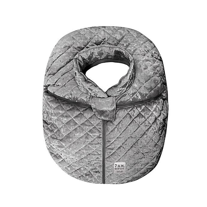 Alternate image 1 for 7AM Enfant Car Seat Cocoon Cover in Grey Velvet