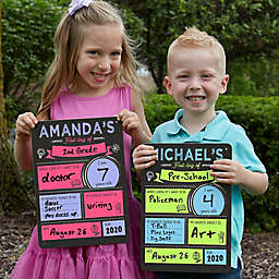 Photo Op First Day of School 12.5-Inch x 9-Inch Dry Erase Sign
