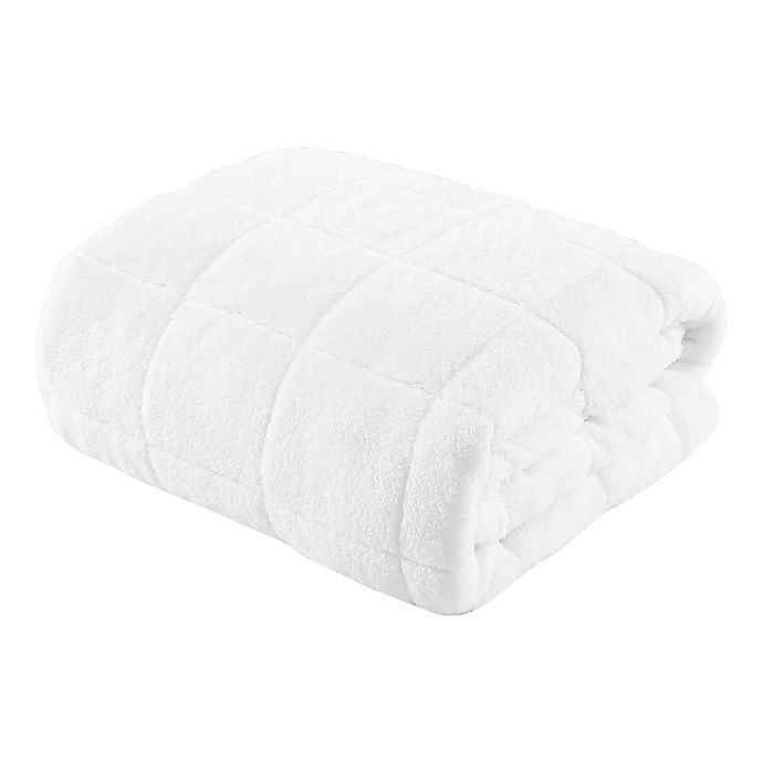 Alternate image 1 for Sherpa 12 lb. Weighted Blanket in White/Natural