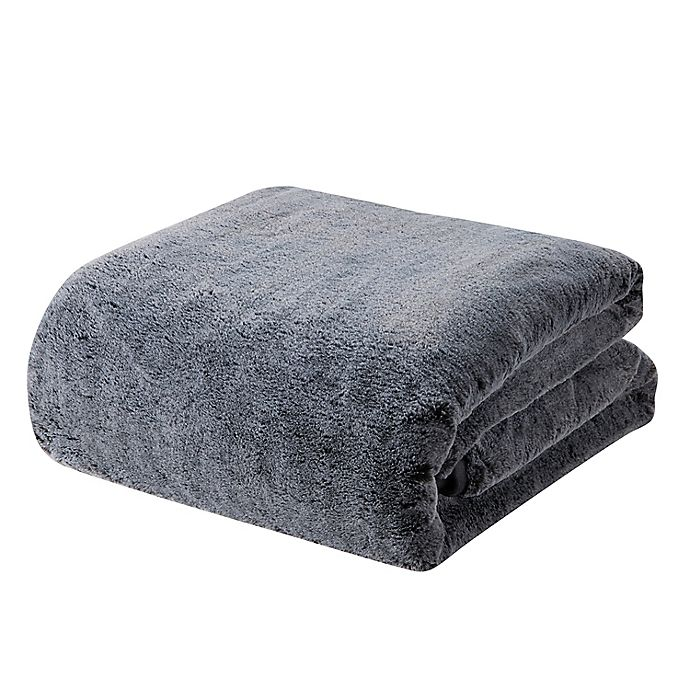 Alternate image 1 for Faux Fur 12 lb. Weighted Blanket in Grey