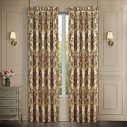 J. Queen Juliette 2-Pack 84-Inch Rod Pocket Light Filtering Window Curtain Panels in Terracotta