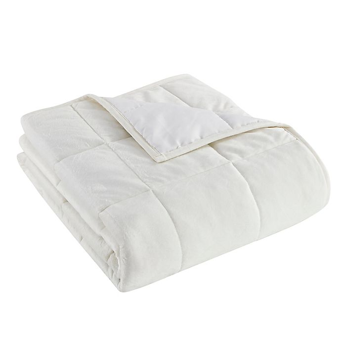 Alternate image 1 for Morgan Home Faux Mink 12 lb. Weighted Blanket in Ivory