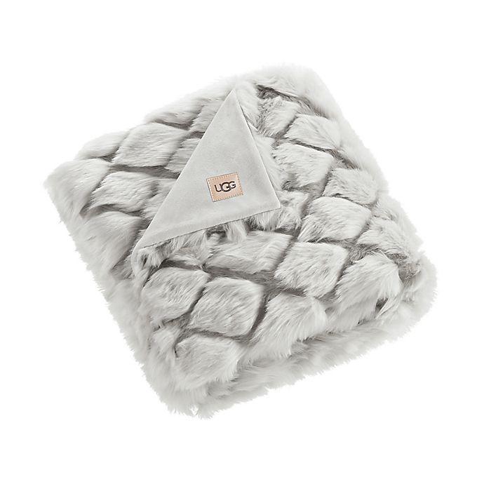 Alternate image 1 for UGG® Kaley Faux Fur Throw Blanket in Grey