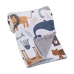 NoJo® Zoo Animals Baby Blanket in White/Grey