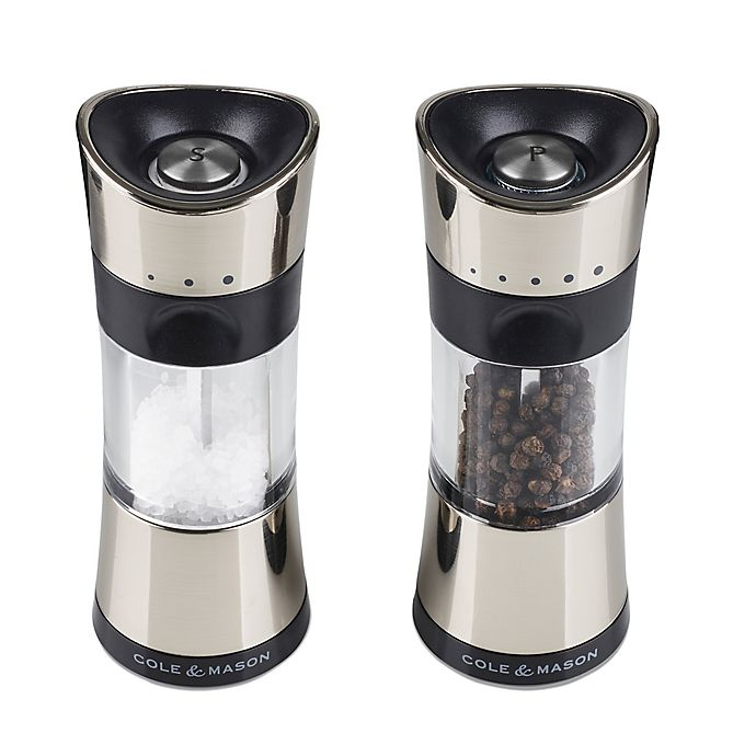 Alternate image 1 for Cole & Mason Metal Salt & Pepper Shakers in Chrome (Set of 2)