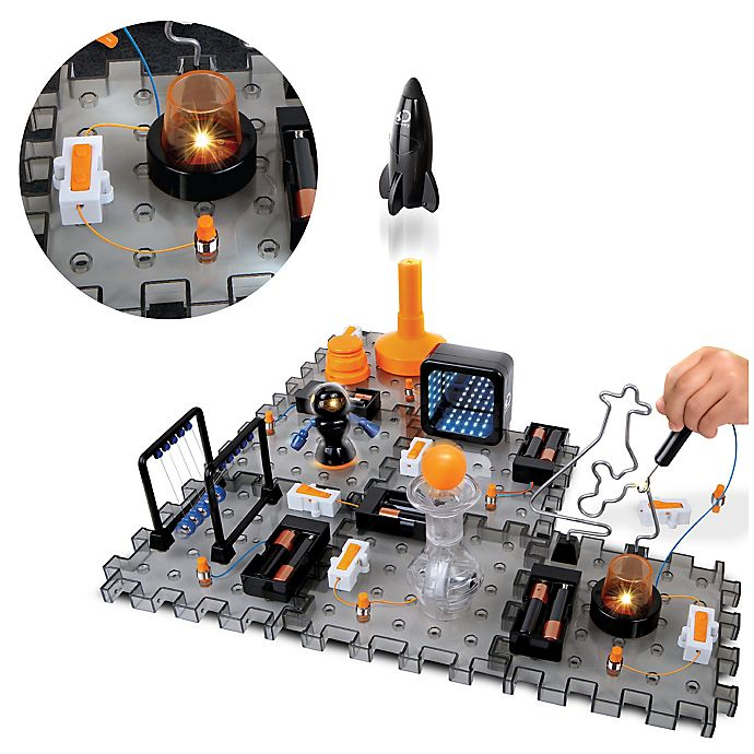 Alternate image 1 for Discovery™ MINDBLOWN Toy Circuitry Action Experiment 51-Piece Playset