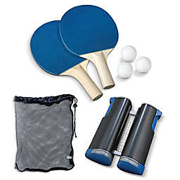 Black Series Retractable Play Anywhere Table Tennis Set