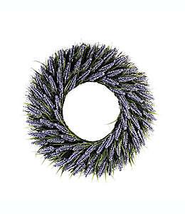 Corona de flores artificiales de lavanda