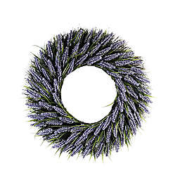28-Inch Faux Lavender Wreath