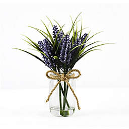 Faux Lilac Floral Arrangement