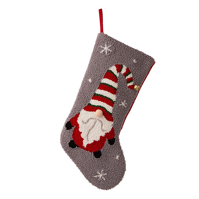 Alternate image 1 for Glitzhome® 21-Inch Hooked Gnome Christmas Stocking