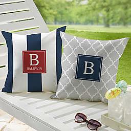Coastal Chic Custom Pattern Square Outdoor Throw Pillow