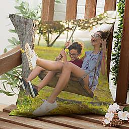 Photo Memories Square Outdoor Throw Pillow