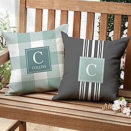 Modern Farmhouse Custom Pattern Square Outdoor Pillow