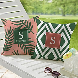 Botanical Custom Pattern Square Outdoor Throw Pillow