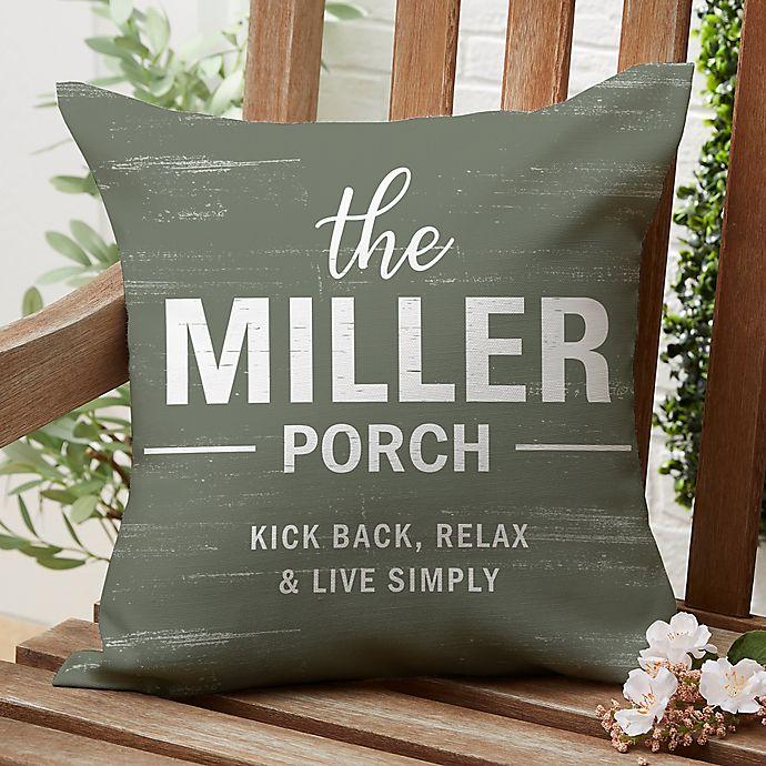 Alternate image 1 for Farmhouse Family Square Outdoor Throw Pillow
