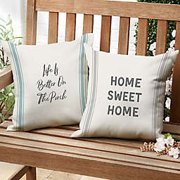 Farmhouse Expressions Square Outdoor Throw Pillow