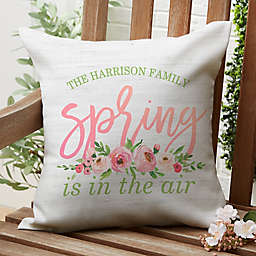 """""""Spring is in the Air"""" Square Outdoor Throw Pillow"""