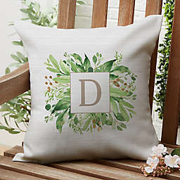 Spring Greenery Square Outdoor Throw Pillow