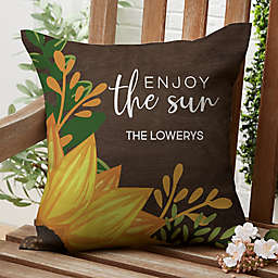 Summer Sunflowers Square Outdoor Throw Pillow
