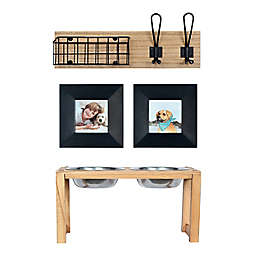 Prinz Curated Entryway 6-Piece Pet Set in Black/Neutral