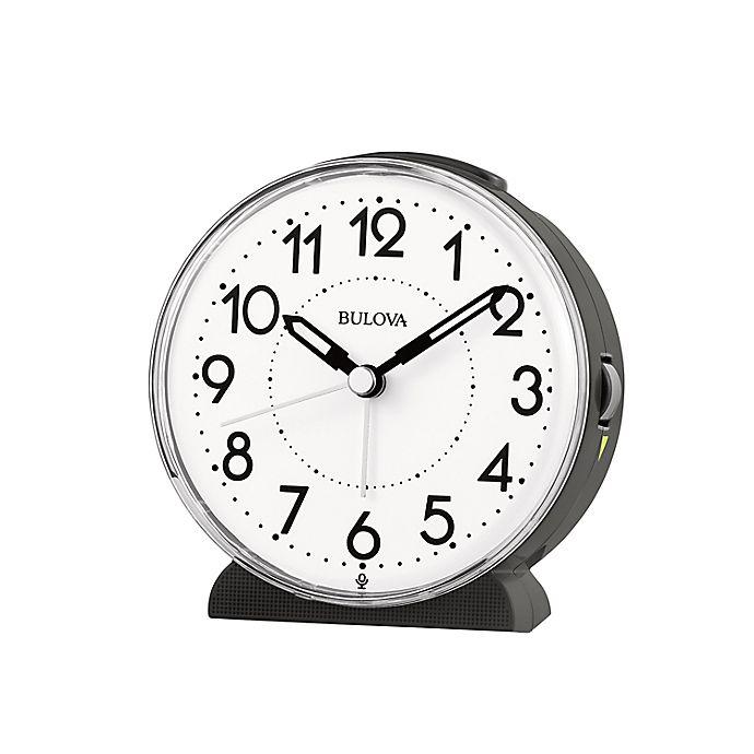 Alternate image 1 for Bulova Oracle Alarm Clock in White