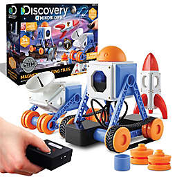 Discovery #Mindblown 34-Piece Magnetic Tiles Building Set with Remote Control
