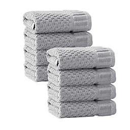 Enchante Home® Timaru Turkish Cotton 8-Piece Washcloth Set in Silver