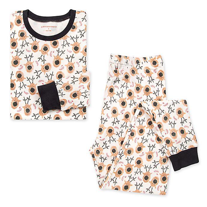Alternate image 1 for Burt's Bees Baby® Women's 2-Piece Reindeer Organic Cotton Pajama Set