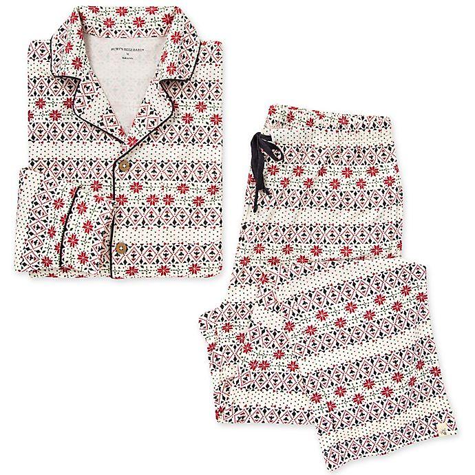 Alternate image 1 for Burt's Bees Baby® Men's 2-Piece Bold Fair Isle Organic Cotton Pajamas in Zinc