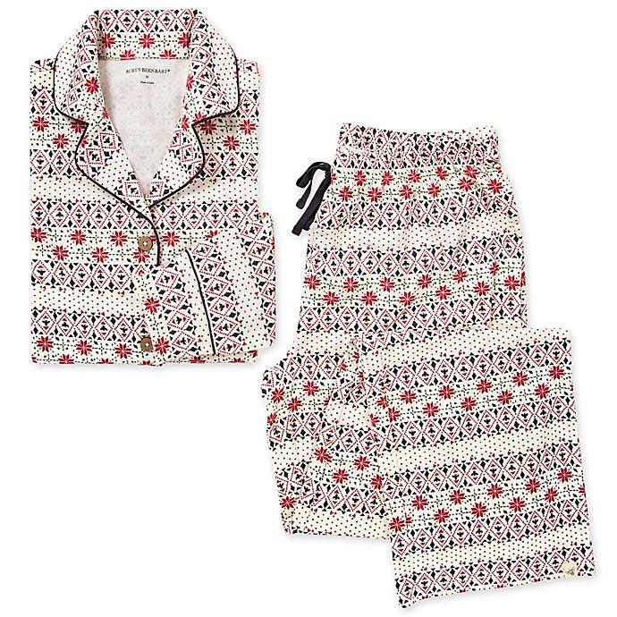 Alternate image 1 for Burt's Bees Baby® Women's 2-Piece Bold Fair Isle Organic Cotton Pajamas in Zinc