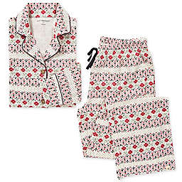 Burt's Bees Baby® Women's 2-Piece Bold Fair Isle Organic Cotton Pajamas in Zinc