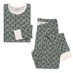 Burt's Bees Baby® Women's 2-Piece Diamond Fair Isle Organic Cotton Pajama Set