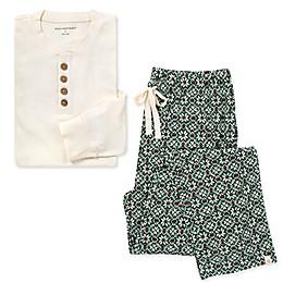 Burt's Bees Baby® Men's 2-Piece Diamond Fair Isle Organic Cotton Pajama Set