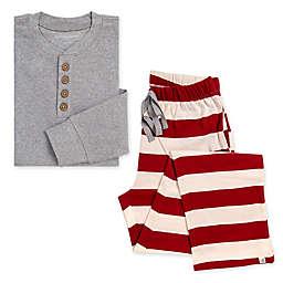 Burt's Bees Baby® Men's 2-Piece Rugby Stripe Organic Cotton Pajama Set